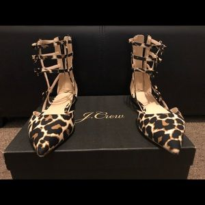 Jcrew Collection caged leopard shoes